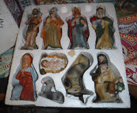 home interiors nativity vintage homco home interior 10 pc nativity set 5260 in original
