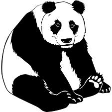 happy panda bear animal wall sticker world stickers happy panda bear animal wall sticker decal plain