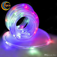 cheap outdoor christmas lights put in tube hollow solar power led