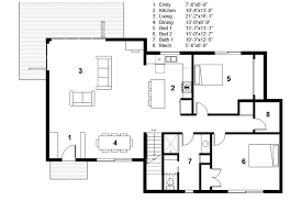 floor plan com modern style house plan 3 beds 2 00 baths 2115 sq ft plan 497 31