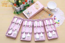 bridal party favors 2018 party favors stainless spoons forks bridal shower wedding