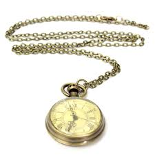 vintage yellow color vintage bronze yellow color dial roman number chain pocket watch