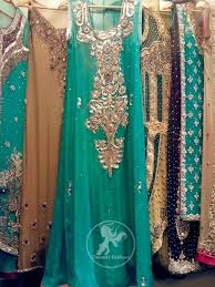 sea green latest designer dresses fashion wear 2017 bridal