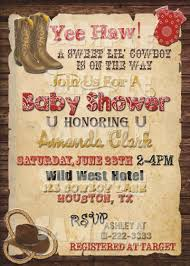 western baby shower invitations u2013 frenchkitten net