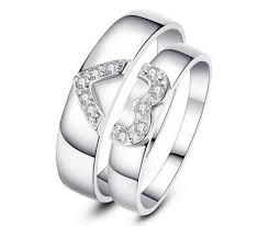 heart shaped engagement ring his and s matching heart shaped engagement rings bands set