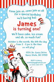dr suess inspired birthday invitation card by nslittleshop