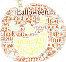halloween word cloud u2014 stock vector arloo 85529156