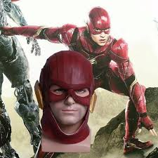 2017 movie justice league mask the flash red mask latex cosplay