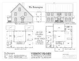 historic colonial floor plans post u0026 beam home plans in vt timber framing floor plans vt frames