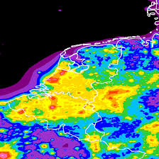 Light Polution Map Light Pollution Map Of The Netherlands Belgium And Luxembourg The