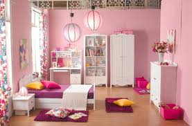 Dark Pink Bedroom - pink room black furniture white curtain glass window above bed