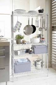 Kitchen Pan Storage Ideas by Best 25 Kitchen Rack Ideas On Pinterest Kitchen Racks Small