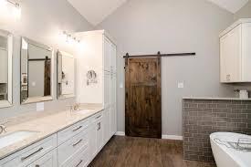barn door ideas attractive wood barn door for bathroom also wall mounted sink along
