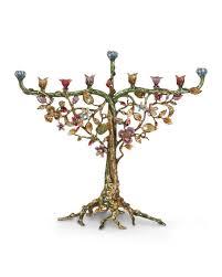 menorah tree of strongwater floral and vine menorah neiman