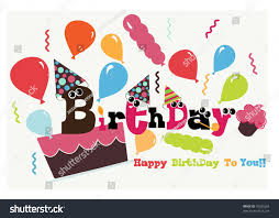 funny happy birthday card stock vector 78035284 shutterstock