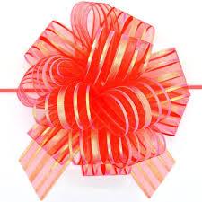 pull bow ribbon 5pcs lot large organza pull bow ribbon for craft wedding