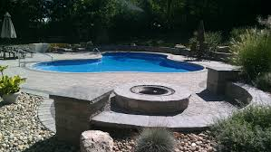 Paver Patios With Fire Pit by Paver Pool Patios In Connecticut The Bahler Brothers