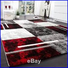 Black White Rugs Modern Large Designer Rug Modern Thick Woven Carpet Soft Black White