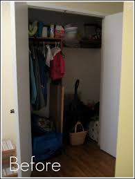 operation organization front hall closet part 1 crafting crazy