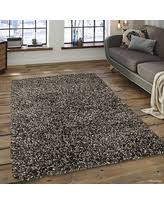 Modern Shaggy Rugs Deals On Allstar Orange Solid Knotted Fluffy Modern Shaggy