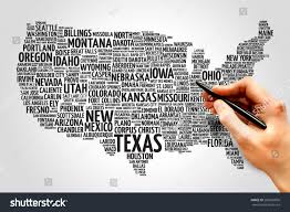 Hollywood Usa Map by Usa Map Word Cloud Most Important Stock Photo 282876806 Shutterstock