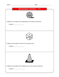 2 common core math worksheets measurement and data 2 md 1 3 1