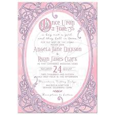 fairytale wedding invitations pink purple fairy tale wedding invitation once upon a time