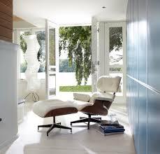 Easychair Design Ideas Excellent Design Ideas Using Rectangular White Leather Easy Chair