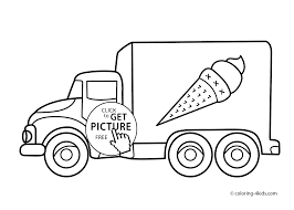 ice cream truck transportation coloring pages for kids printable