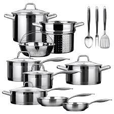 black friday pots and pans set amazon com duxtop ssib 17 professional 17 piece stainless steel