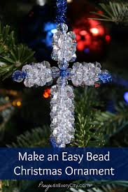 make an easy bead cross ornament u2013 prayer in every city