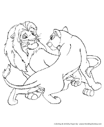 wild animal coloring pages male female lions coloring