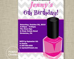 nail polish invite etsy