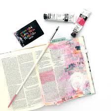 mixed media bible journaling tutorial washi tape background