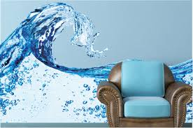 water splash wall decal blue water wall mural vinyl wall mural