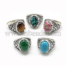 stone finger rings images Mixed color mixed stone finger rings rjew s039 09m gemstone JPG