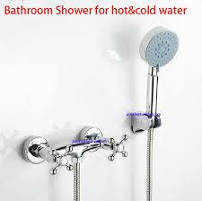 bathroom hand shower set complete europe double handle shower