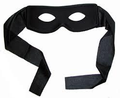plain mask bandit mask plain black zorro style robber highwayman fancy dress