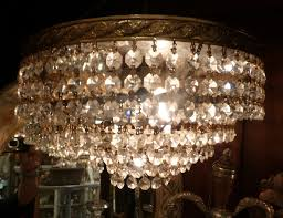 Ebay Ceiling Light Fixtures by Vintage Crystal European Chandelier Wedding Cake French Flush