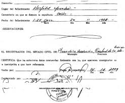 cuban death certificate cubacityhall com
