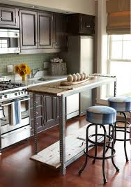 homemade kitchen island with wolf gas range and