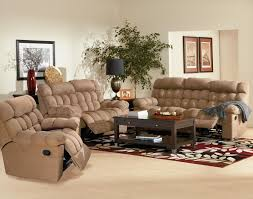 Microfiber Recliner Sofa by Living Room Living Room With Two Recliners With Brown Microfiber