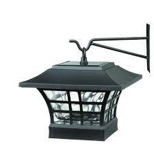 solar powered deck post lights solar black led deck post with plastic cage and glass lens 2 pack