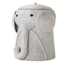 home decorators elephant her elephant wicker laundry basket nursery toys home white laundry