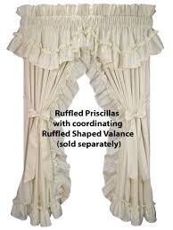 Country Ruffled Valances Priscilla Curtains Also With A Roman Curtains Also With A Country