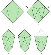 3d Origami Flower Vase Instructions Origami Paper Vase