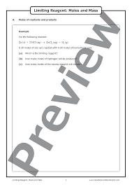 limiting reagent moles and mass u2013 worksheet good science worksheets