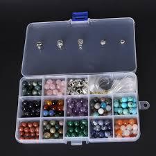 bead bracelet kit images Natural stone round diy beads kit for diy bracelet including jpg