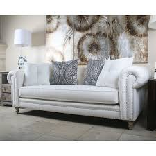 Chesterfield Sofa Linen South Cone Home Hanover Tufted Linen Chesterfield Sofa Reviews