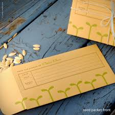 personalized seed packets inkello letterpress green seedling personalized seed envelopes 205